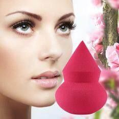 1pc satu sisi menunjuk labu berbentuk Makeup Sponge Blender Puff bubuk sempurna mawar merah