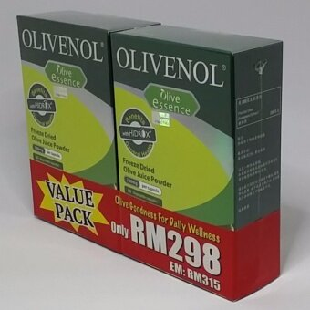 Olivenol Olive Essence Freeze Dried Olive Juice Powder 200mg Vegetable Capsule 2x60's Value Pack Exp7/2019 (Most Potent Natural Antioxidant, Prevents Premature Aging, Relieves Joint Pain And Skin Eczema, Lowers Bad Cholesterol, Strengthens Immune System)
