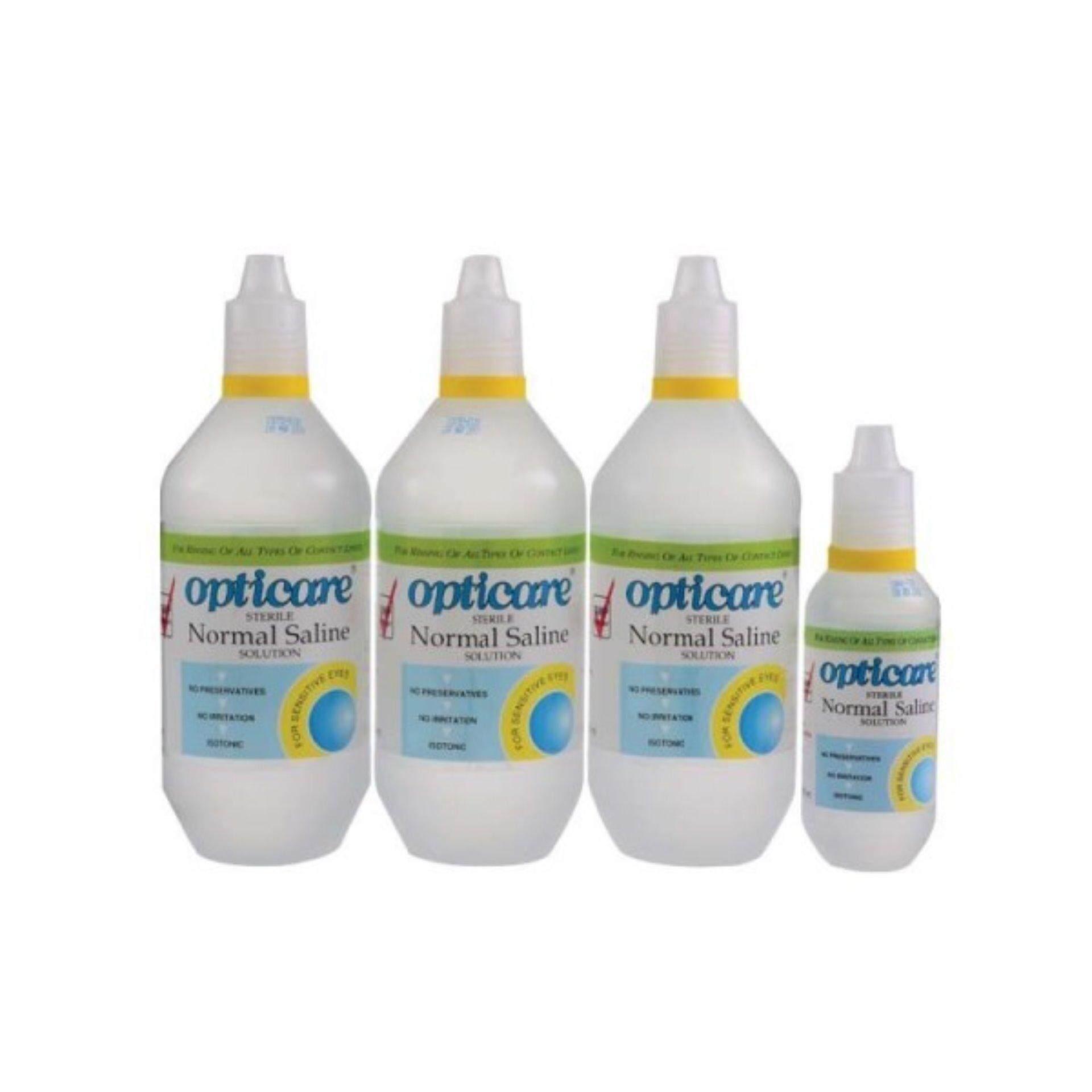 Opticare Normal Saline Solution 500mlx3 + 120mlx1