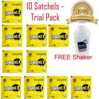 Original Lemonex 10 Satchels Trial Pack + FREE BPA Free Branded Shaker