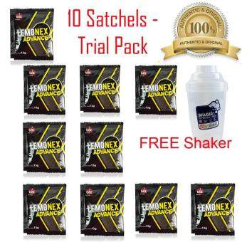 Original Lemonex Advance 10 Satchels Trial Pack + FREE BPA Free Branded Shaker