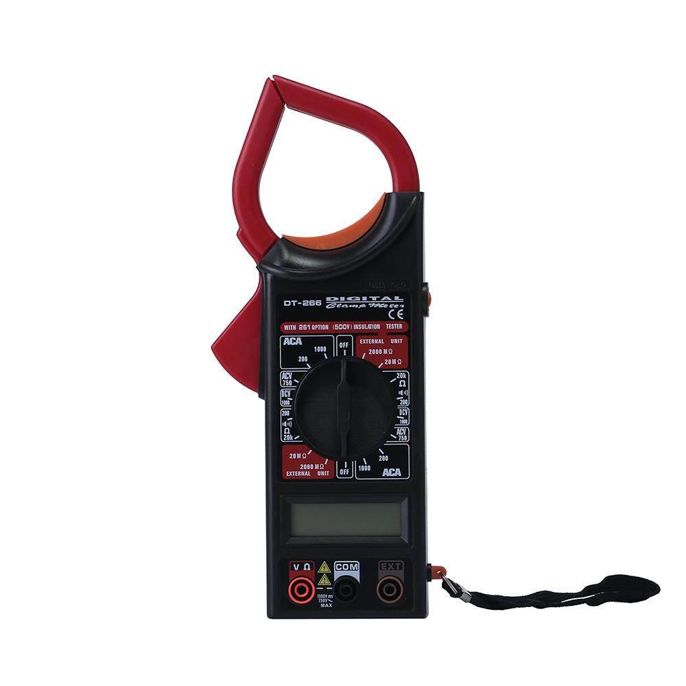 ounjea Digital Multimeter Electronic Clamp Meter Ammeter Voltmeter Ohmmeter Insulation Tester (Red)