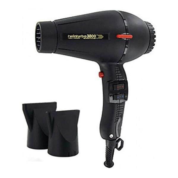 Pibbs Pibbs TTEC8012 Twin Turbo 3800 Professional Ionic and Ceramic Hair Dryer, Black, 2100 Watt - intl