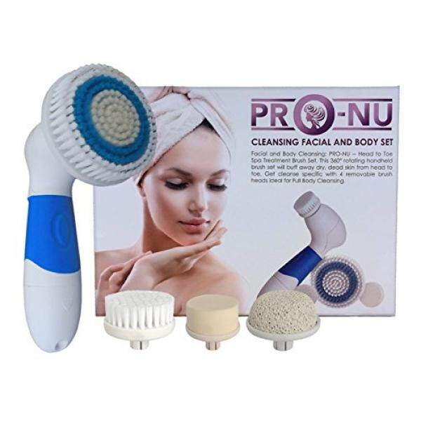 Pro-Nu Facial Cleansing Brush Skin Spa Care Waterproof Electric Face Body Scrub - intl