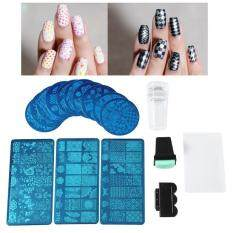 Shanyu Professional Nail Stamping Plates Set Flower Forest Image Plates Nail Art Stamper Scraper Sets Tools Philippines