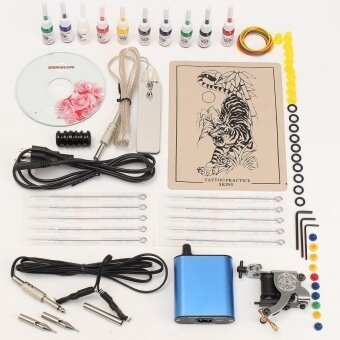 Best Price Professional Tattoo Machine Kits With High Lcd Power Equipment Supply Set 10 Colors Intl