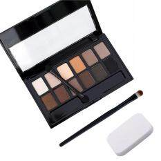 Puff+Eye Shadow Brush+Cosmetic Matte Eye Shadow 12 Colors Make UpSet Nudes Naked Pallete Eyeshadow Palette Makeup