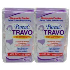Pureen Travo Disposable Maternity Panties (l Size) 5s Twin Pack By Otys.