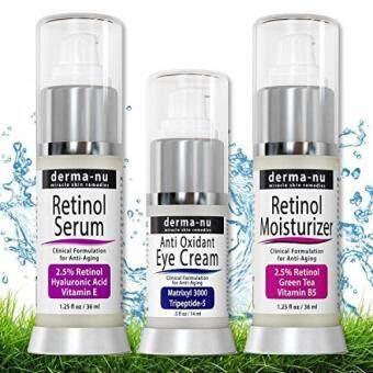 Retinol Skin Rejuvenation System - Anti Aging Products – Derma-nu 3 Piece Skin Care System – Retinol Cream, Retinol Serum & Anti Aging Eye Cream. Best Skin Treatment for Fine Lines & Wrinkles - intl