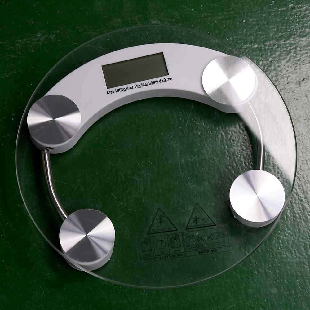 Buy Round Digital Lcd Tempered Glass Electronic Body Weighing Scale 26Cm Hot Sale Intl Oem Original