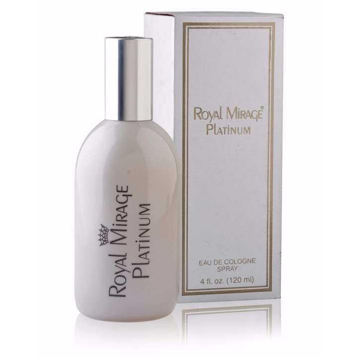 """Royal Mirage : Classic – """"PLATINUM"""" Eau de Cologne Spray 120 ml (Emirates Manufacture)"""
