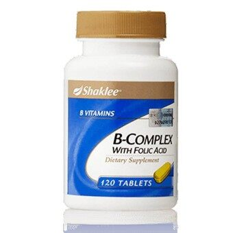 Shaklee B-Complex With Folic Acid 120 Tablets (FREE SHIPPING)
