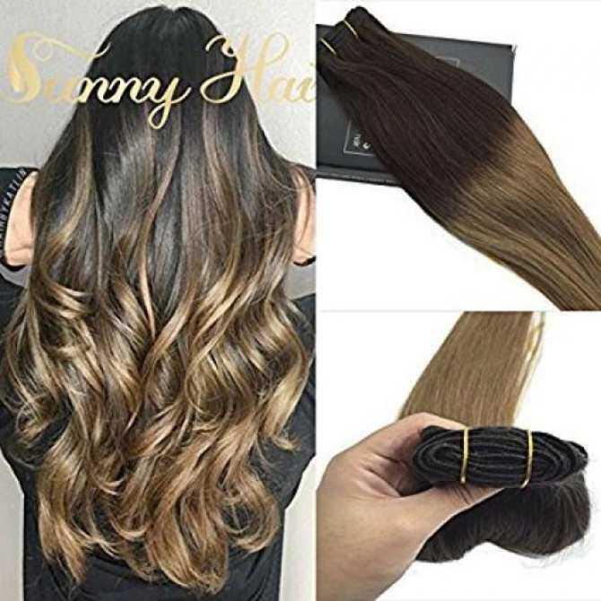 Sunny Hair 16 7 Pcs 120 Gram Per Package Color 2 Darkest Brown Mix