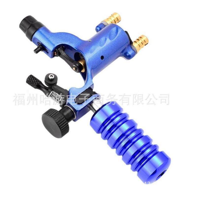 Tattoo Machine Handle Part Tube Tip Grip Body Art Accessory With Back Stem Blue