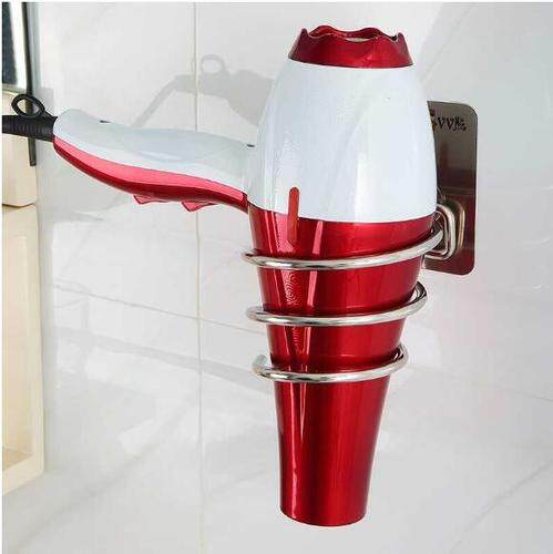 The hair dryer hair dryer tube health shelf in the bathroom that the VV bear is seamless to stick the glue stainless steel hair dryer