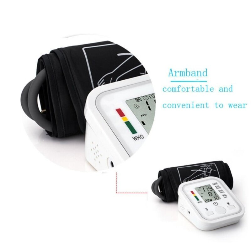 TOMSOO Automatic Digital LCD Arm Cuff Blood Pressure Pulse Monitor Sphgmomanometer New high-caliber bán chạy