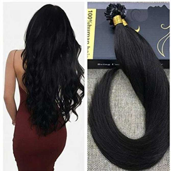 Ugeat 18inch 50 Gram Per Package Flat Tip Human Hair Extensions