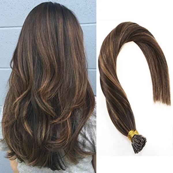 Vesunny 18 I Tip Warna Ekstensi Rambut #2 Darkest Cokelat Memudar Ke # Ight Cokelat Fusion Ekstensi Rambut 1 g/Helai 50G Per Set-Internasional