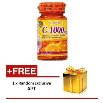 Vitamin C 1000 mg Wild Rosehips ACORBIC 30 tablets with extra gift