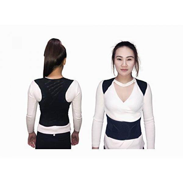 Waroom Posture Corrector for women &Men Adjustable, Breathable, Comfy & Stretchable, For Lower and Upper Back Pain, Support Brace Improves Minimize Rounded Shoulders, Hunched Back & Stand Tall (XXL) - intl
