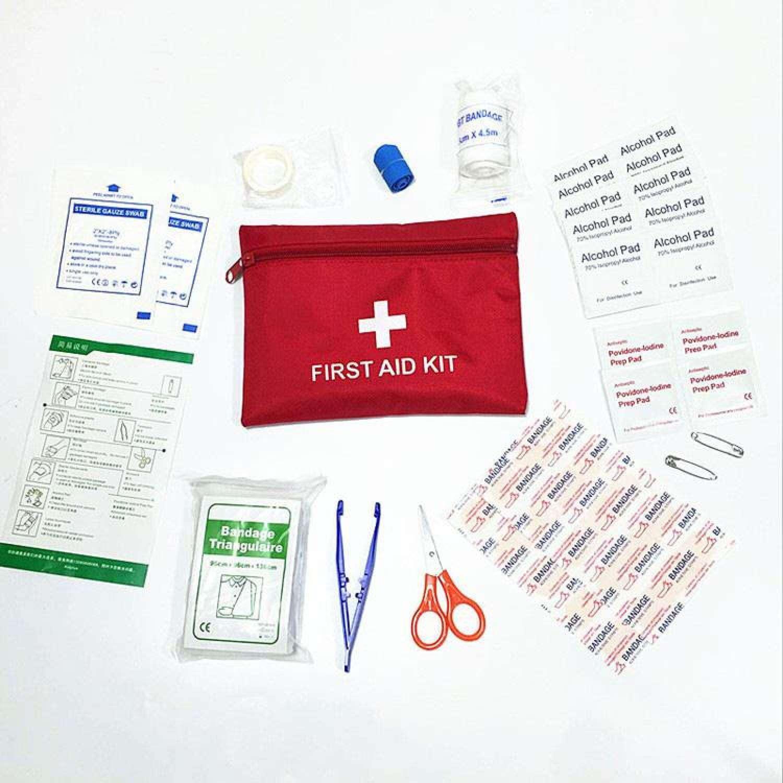 Anti Air Mini Luar Ruangan Perjalanan Mobil Pertama Bantuan Perlengkapan Rumah Kecil Kotak Medis Emergency