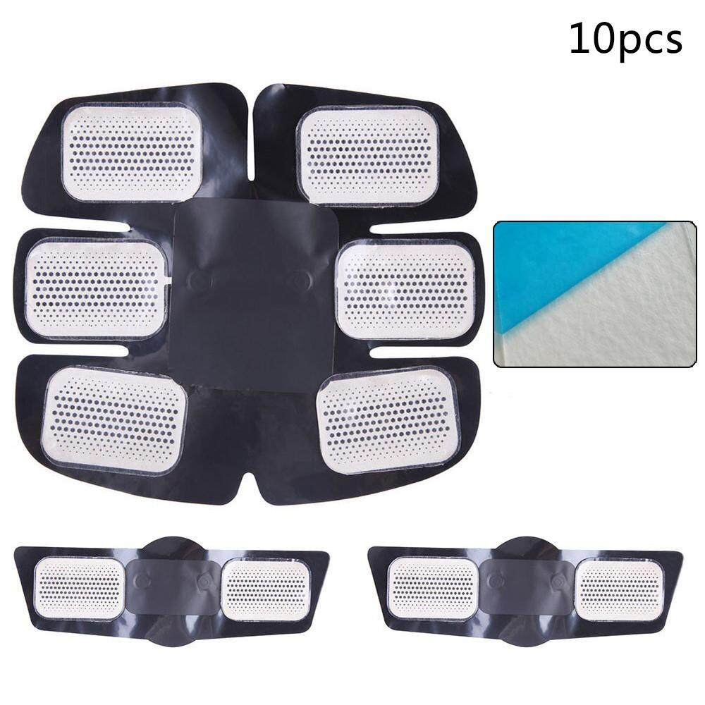 ZKYT 10pcs Replacement Gel Pads For EMS Abdominal Arm Leg Muscle Toner