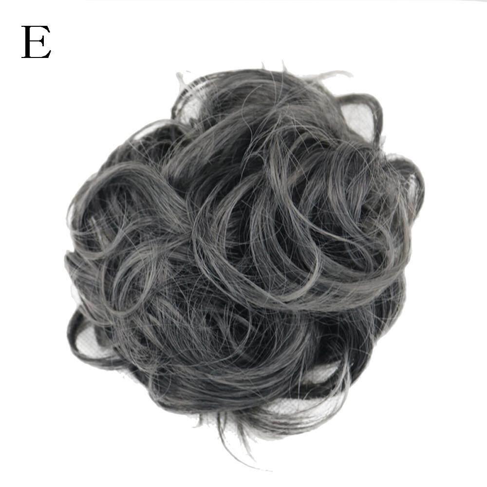 Wanita Bun Berantakan Keriting Rambut Twirl Piece Scrunchie Ekstensi Wig Rambut-Intl