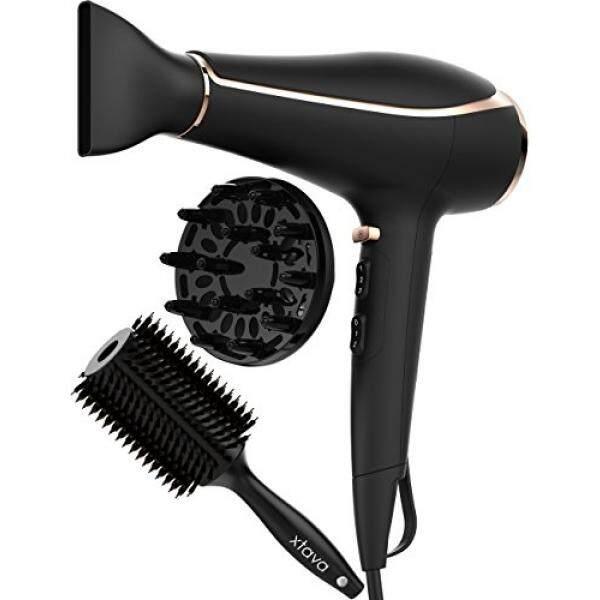 Xtava Ionic Pengering Rambut Tebal Toolkit dengan Diffusser Pengering  Rambut dan Bulat Tubuh Sisir Rambut- f66bb14618