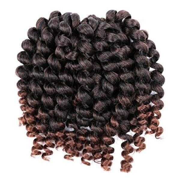 YOKWI 8 Inch Wand Curl Crochet Hair Extensions 20 Roots/Pack ombre braiding Twist Hair Synthetic Jumpy Wand Curls Crochet Braids Hair - intl