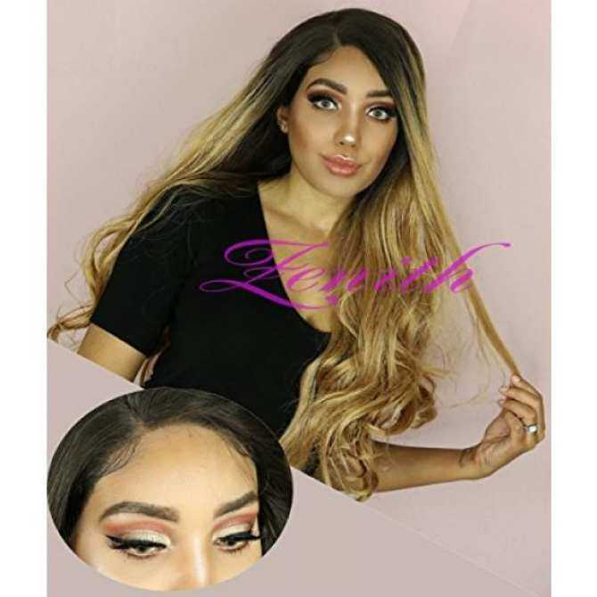 Zenith Golden Brown Ombre Lace Front Wigs For African American Women