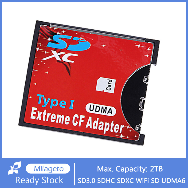 milageto Extreme SD to CF Adapter SDHC/SDXC To CompactFlash CF Type I Memory Card