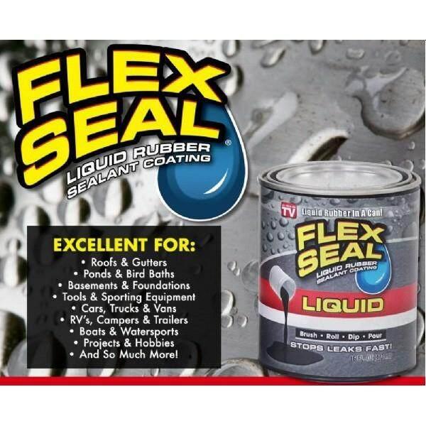 Flex Seal Liquid Rubber Sealant Coating Black Color 16 Oz (473 ML)