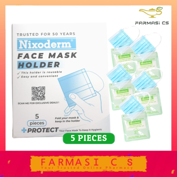 Reusable Hygienic Zip-Lock Face Mask Holder 5 Pieces [Pocket Size]