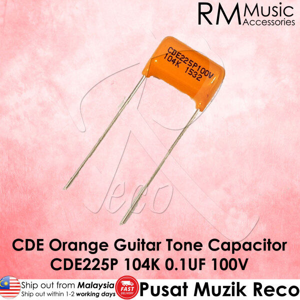 CDE Sprague Guitar Orange Drop Capacitor Tone Caps CDE225P 104K 0.1UF 100V【Msia Seller READY STOCK】 Malaysia