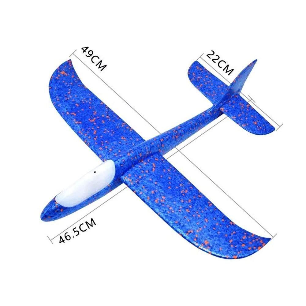 Mytoys 49cm Wingspan 3d Foam Plane Glider Aeroplane Toy Vehicle By Mytoys2u.