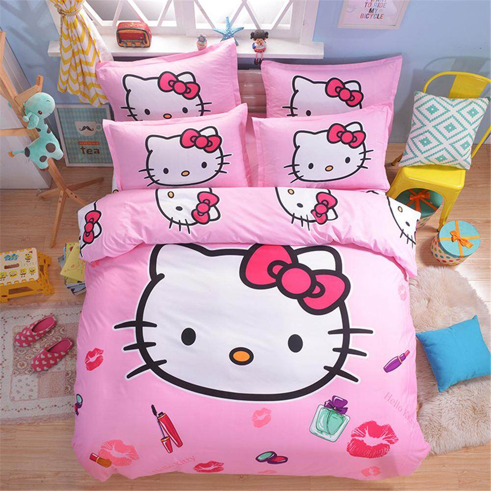 Bedding hellokitty cat three-piece