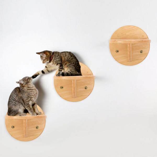 Bậc Thang Cho Mèo Kệ Leo Cầu Thang Gắn Tường Hình Mèo Thú Cưng, Sàn Leo Tường Mèo Tự Làm Cầu Nhảy Cho Mèo Bằng Gỗ Đồ Chơi Thú Cưng