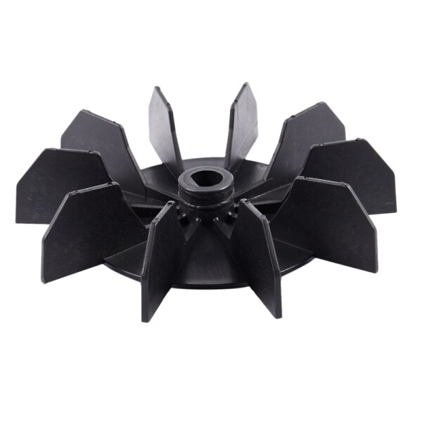 Replacement 0.5 Inner Bore 10 Impeller Air Compressor Motor Fan Blade Black