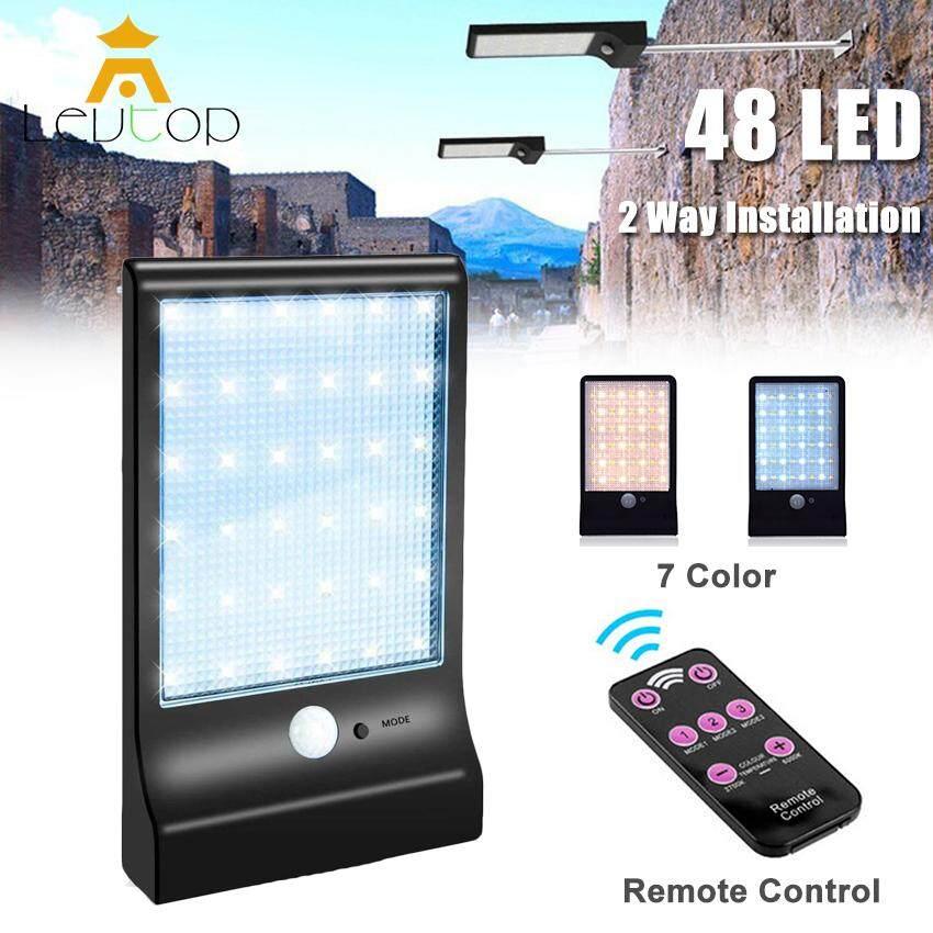 LEVTOP 48 LED Solar lights Outdoor Lighting Wall Power Street Light Motion Sensor Detector Light Security Lamp Garden 450LM
