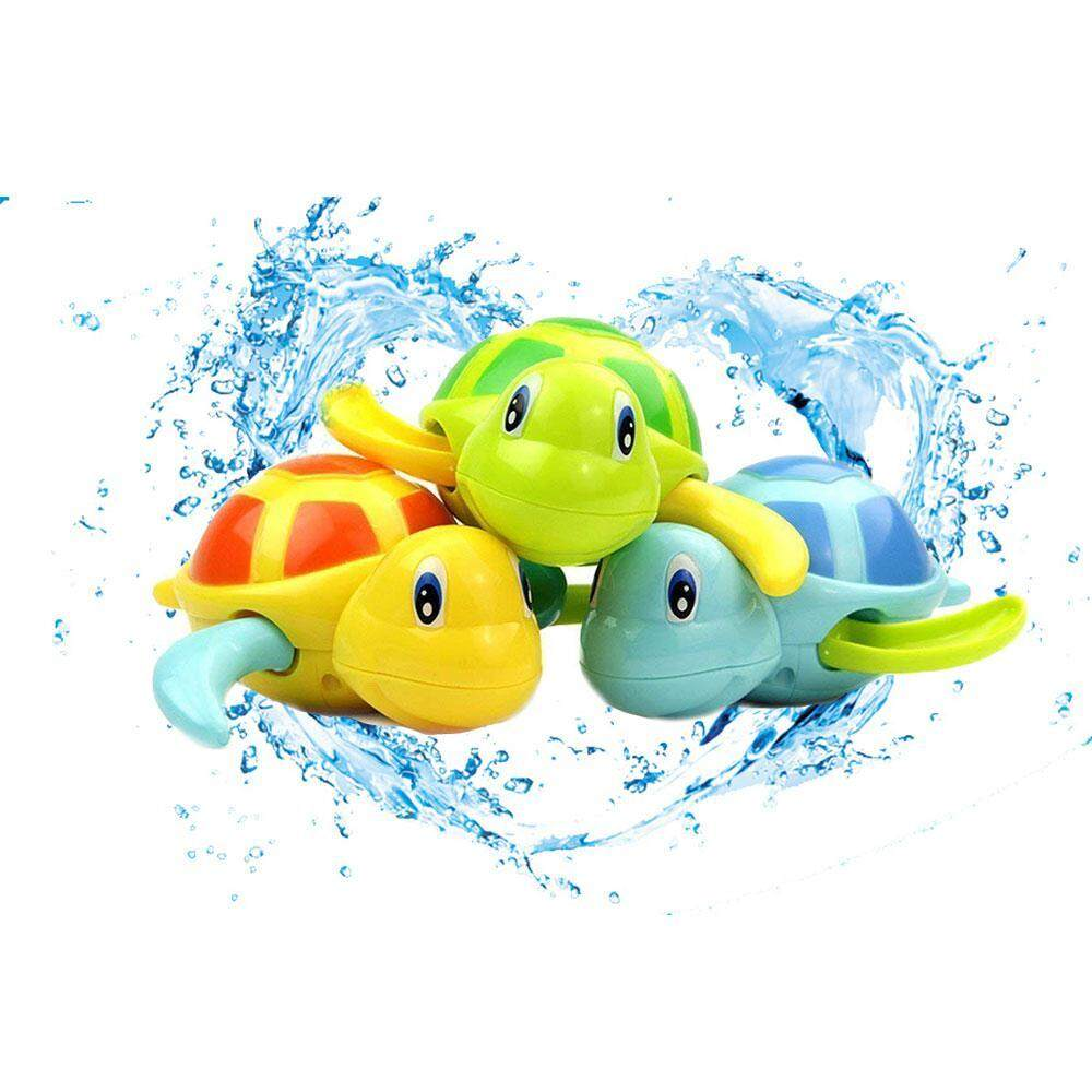 Lightsmile Baby Bath Toys, 3pcs Swimming Turtle Toy For Toddler, Eco-Friendly Floating Wind-Up Shower Toys For Girls Boys Kids By Lightsmile.
