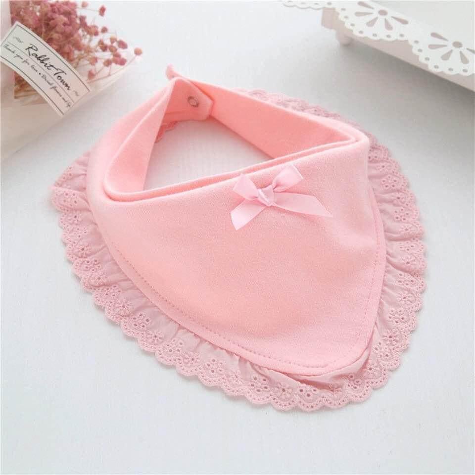 Girl Toddler Boy Newborn Feeding Lace Baby Bibs Cotton Saliva Towels