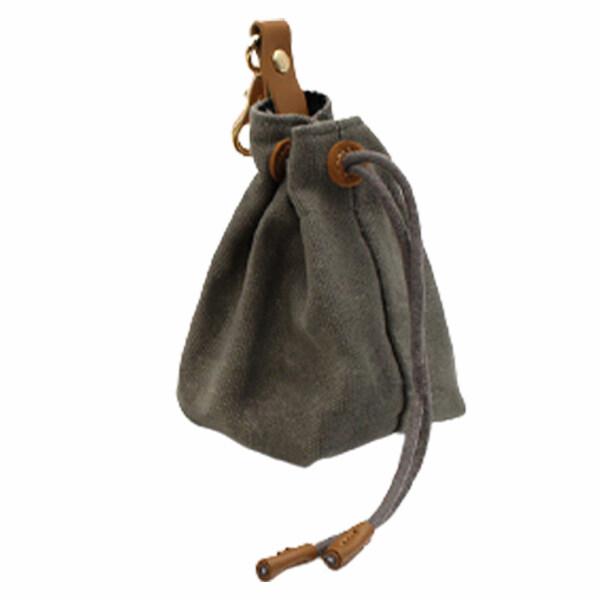 Túi Đựng Thực Phẩm Cầm Tay Có Dây Rút Không Tay Đeo Thắt Lưng Huấn Luyện Đi Bộ Ngoài Trời Kèm Móc Khóa Túi Đựng Đồ Cho Chó