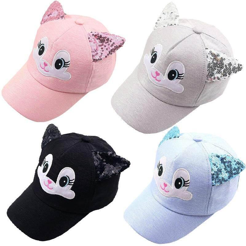 084a4207 Sombrero del bebé niño de dibujos animados gato algodón orejas de gorras de  béisbol de verano