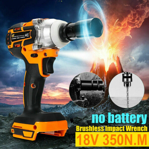 【Free Shipping】18V 520Nm Brushless Impact Wrench Driver Cordless Drill Replacement for Makita Battery