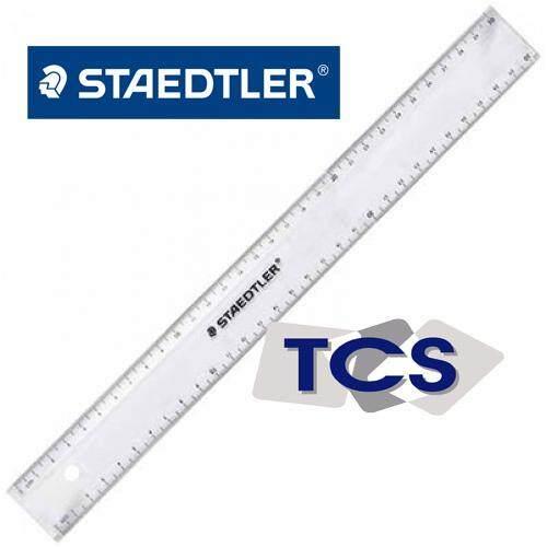 Staedtler 30cm plastic transparent ruler