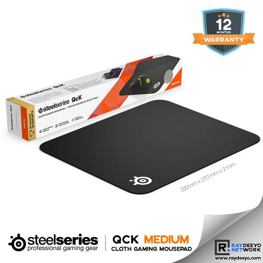 Steelseries QCK MEDIUM Gaming Mouse Pad [High Quality Cloth  + Non-Slip Rubber Base] Malaysia
