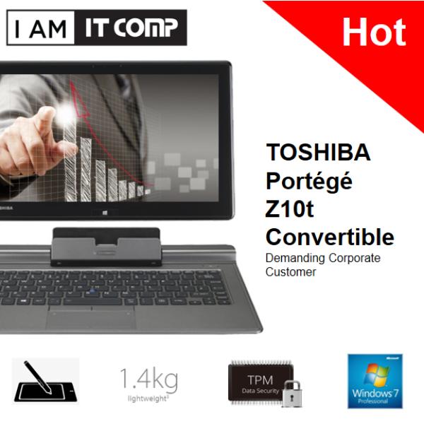 TOSHIBA PORTEGE Z10t-A113 CONVERTIBLE (I5-3339Y/4G/128GB/WIN7 PRO) Malaysia