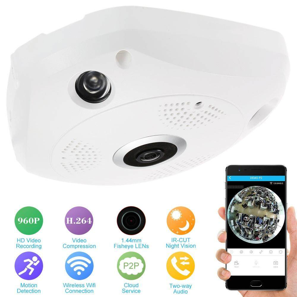 960P HD 3D Dome Full View Fisheye 360 Degree Panoramic Wireless Wifi APP  Remote Control IP Camera Bulb Light Fish Eye Smart Home CCTV VR Recorder  for