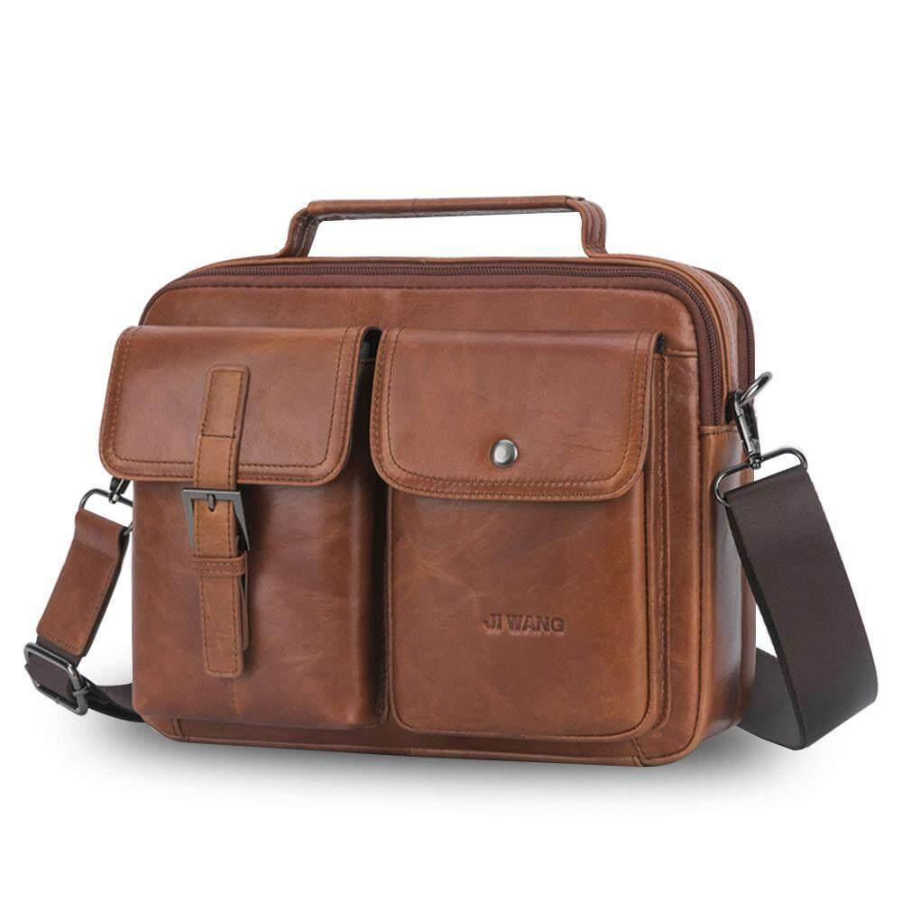 641e9df9a4c8 GoodGreat Vertical Genuine Large Long Men Leather Shoulder Cross Body  Messenger Casual Bag
