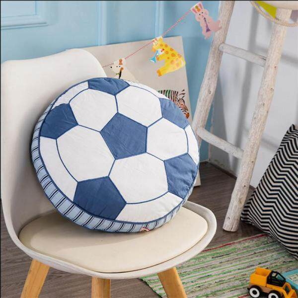 Round Cotton Foodball Shape Cushion Toy Pillow Cat Home Sofa With Core Waist Boy Bedroom Decor 40x15cm